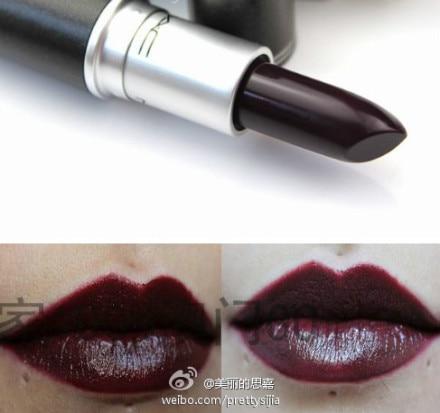 Gothic cosplay black grape purple lipstick purple and black red lipstick