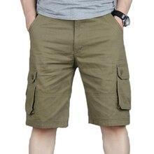กางเกงขาสั้นผู้ชายฤดูร้อน Casual กระเป๋า Cargo กางเกงขาสั้น Hip Hop ผู้ชาย Joggers โดยรวมทหารกางเกงสั้น Plus ขนาด 46 Sweatpants