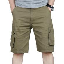 Shorts Mannen Zomer Casual Pocket Cargo Shorts Hip Hop Mannen Joggers Algehele Militaire Korte Broek Plus size 46 Joggingbroek