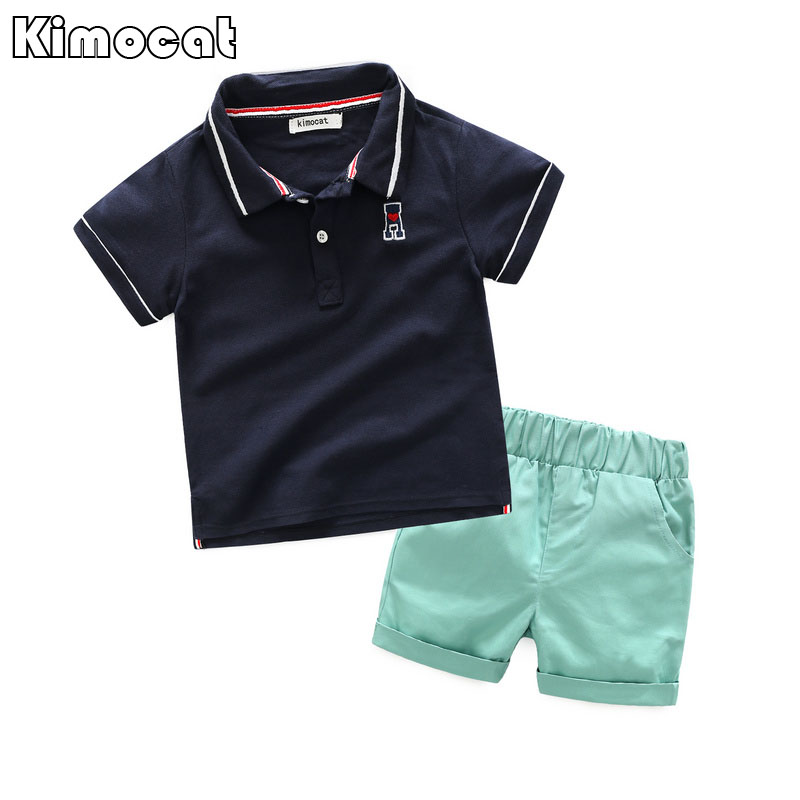 Kid Boys Clothing Sets 2017 Summer Kids Clothes for Boys Fashion t-shirt + pants 2 pcs Baby Boys Toddler Suit inktastic little boys live dream sand boarding toddler t shirt