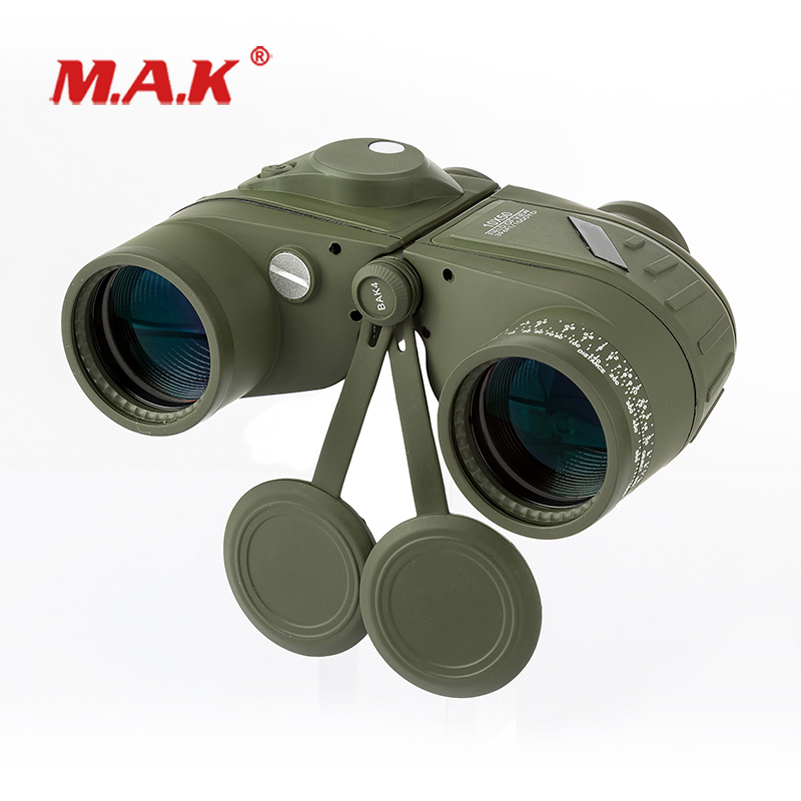 HD Waterproof <font><b>10x50</b></font> <font><b>Binocular</b></font> Telescope in Night Vision with <font><b>rangefinder</b></font> Compass for Outdoor Hunting image