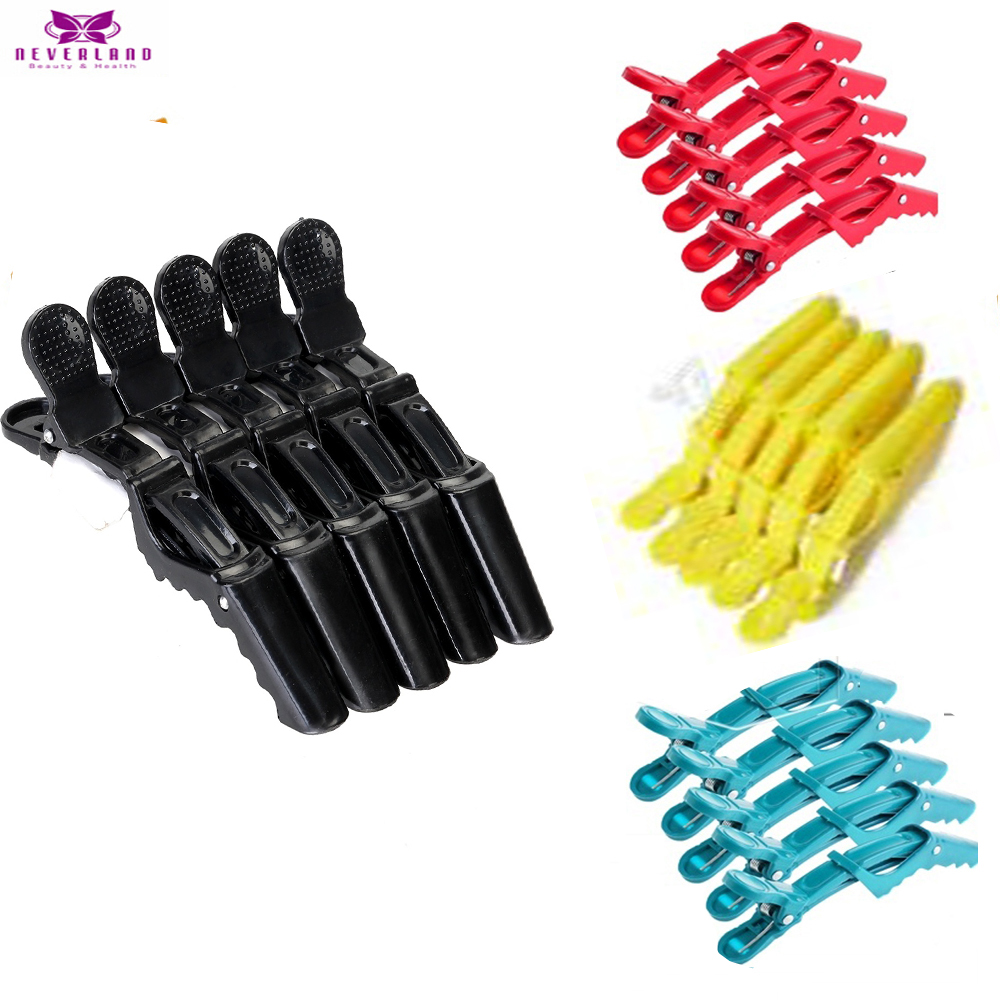 5pcs/lot Hairdressing Clips Salon Hairdresser Hairpins Accessories Pins Black Color Tool Set Wig Head Hair Claw For Hairstyles