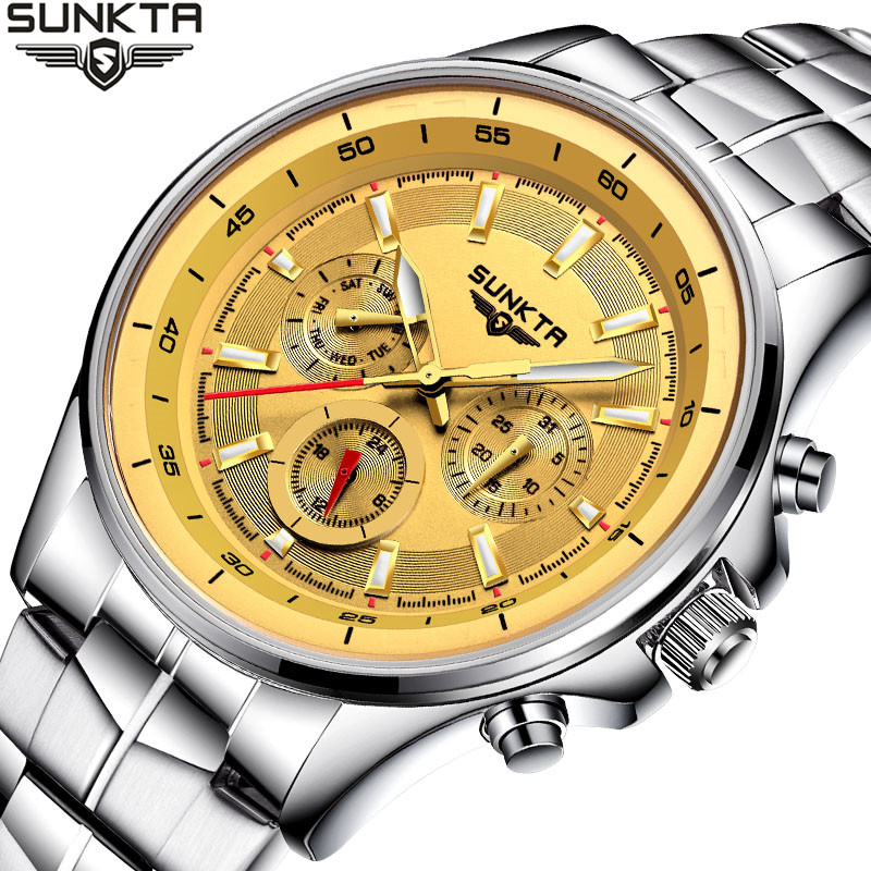 SUNKTA Watch Business Waterproof Clock Mens Watches Top Brand Luxury Fashion Casual Sport Quartz Wristwatch Relogio Masculino relogio masculino chronograph mens watches top brand sinobi luxury fashion business quartz watch man sport waterproof wristwatch