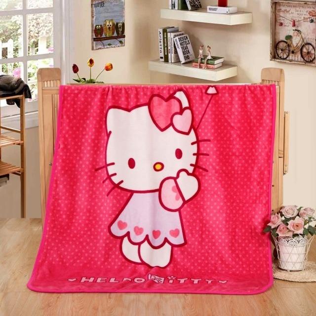 893270190 Hot Sale Cute Hello Kitty Children Blanket Cartoon Baby Nap Blanket School  Blankets For Kids Size 70x100cm