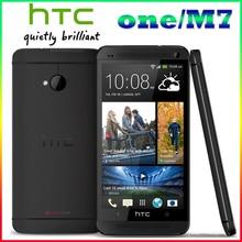 Разблокирована Оригинальный HTC One М7 801e M7 32 ГБ Android 4 Г смартфон Quad core сенсорный silver/black One йеай Гарантия