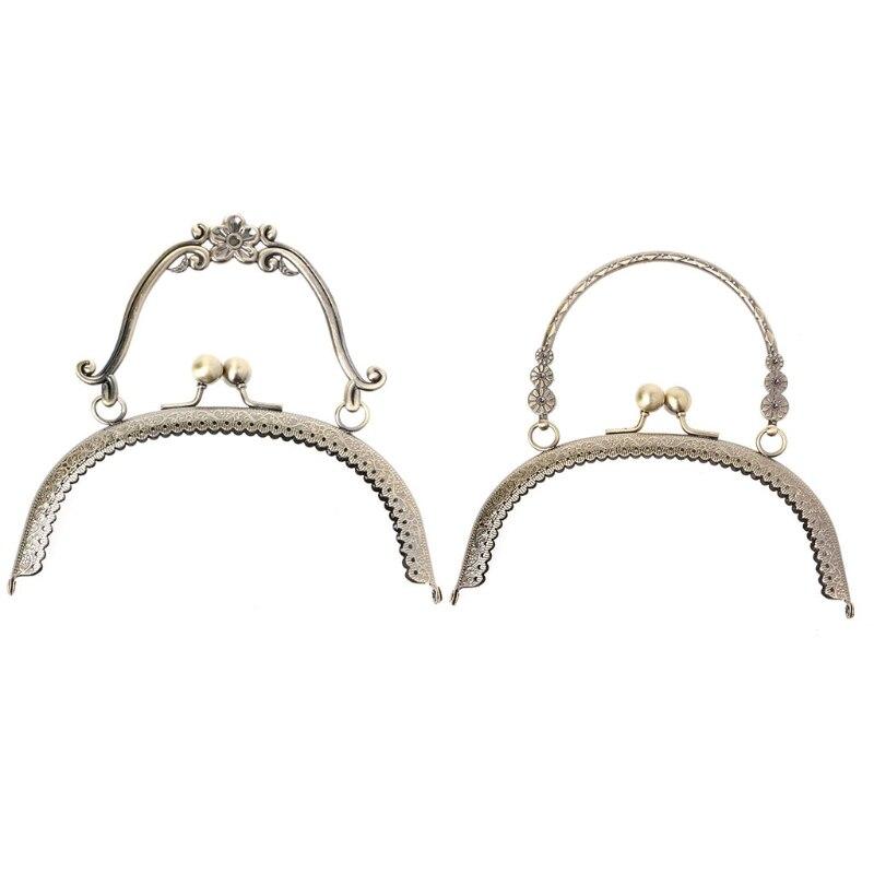 1Pc Metal Frame Kiss Clasp Lock Handle Arch For DIY Purse Bag DIY Craft