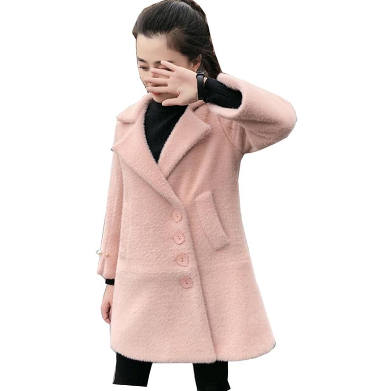 Women Woolen coat Winter Raccoon Dog Fur Coats 2018 New Lapel Fur Jackets Plus Size Women Clothing Ladies Long Fur Coat NW665