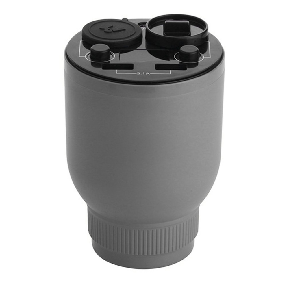 Car Humidifier Dual USB Charger Magic Cup Auto Air Purifier Aroma Diffuser MINI Aromatherapy Humidifier Car Cigarette Lighter