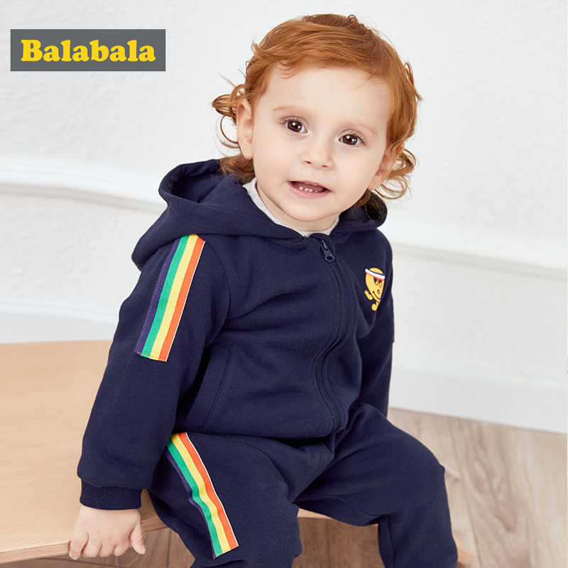 Balabala Baby boys girls clothing set spring clothes girls boys suit baby foreign two-piece children's clothes 2019 new suit