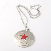 The Avengers 3 Necklace Captain America Winter Soldier Shield Necklaces Pendants for Women Men Choker Jewelry