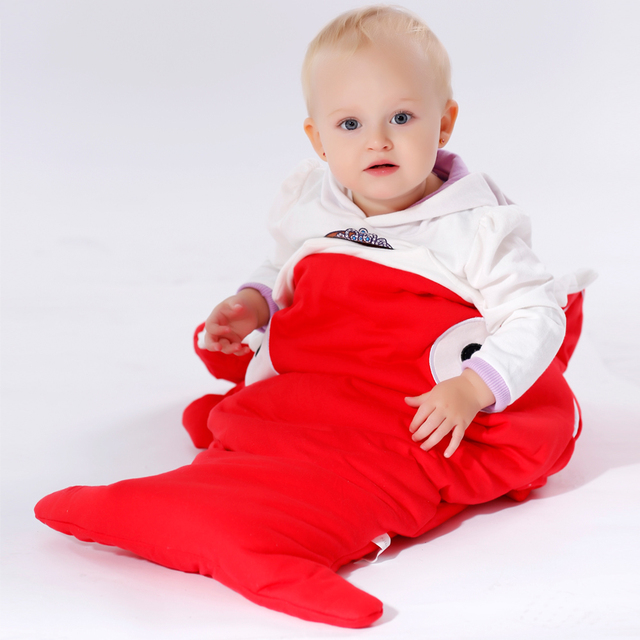 EMS DHL Free INS 2015 New Hot Sales Newborn Baby Shark Sleeping Bag Winter prams Swaddle Blanket Wrap used Bed Cute Cartoon