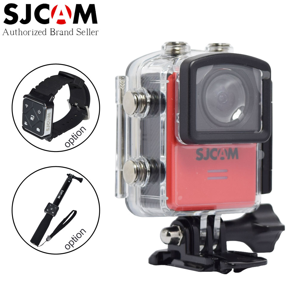 Original SJCAM M20 Wifi Super Mini Gyro Stabilizer Action Video Camera 4K 24fps 16MP Waterproof Adjustable Lens Remote Camcorder ntk96660 sjcam m20 wifi gyro sport action camera hd 2160p 16mp imx 206 bluetooth watch self timer lever remote control raw cam