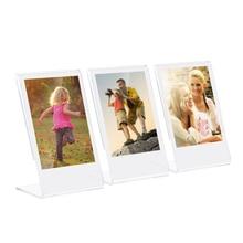 """Andoer 3 """"cadre Photo acrylique en forme de L Mini support Transparent pour Fujifilm Instax Mini 8 8 + 70 7s 90 25 26 50s 9 SP 1 Film SP 2"""