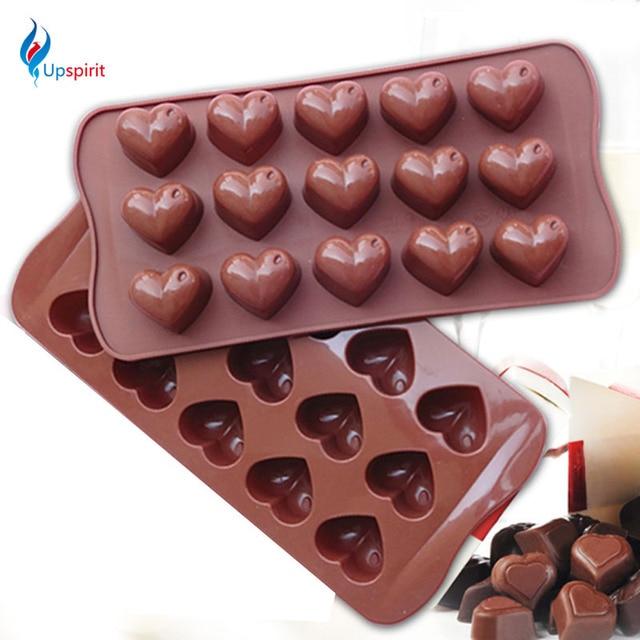 15 Locher 3d Herz Form Schokolade Mold Silikon Backmatte Fondant