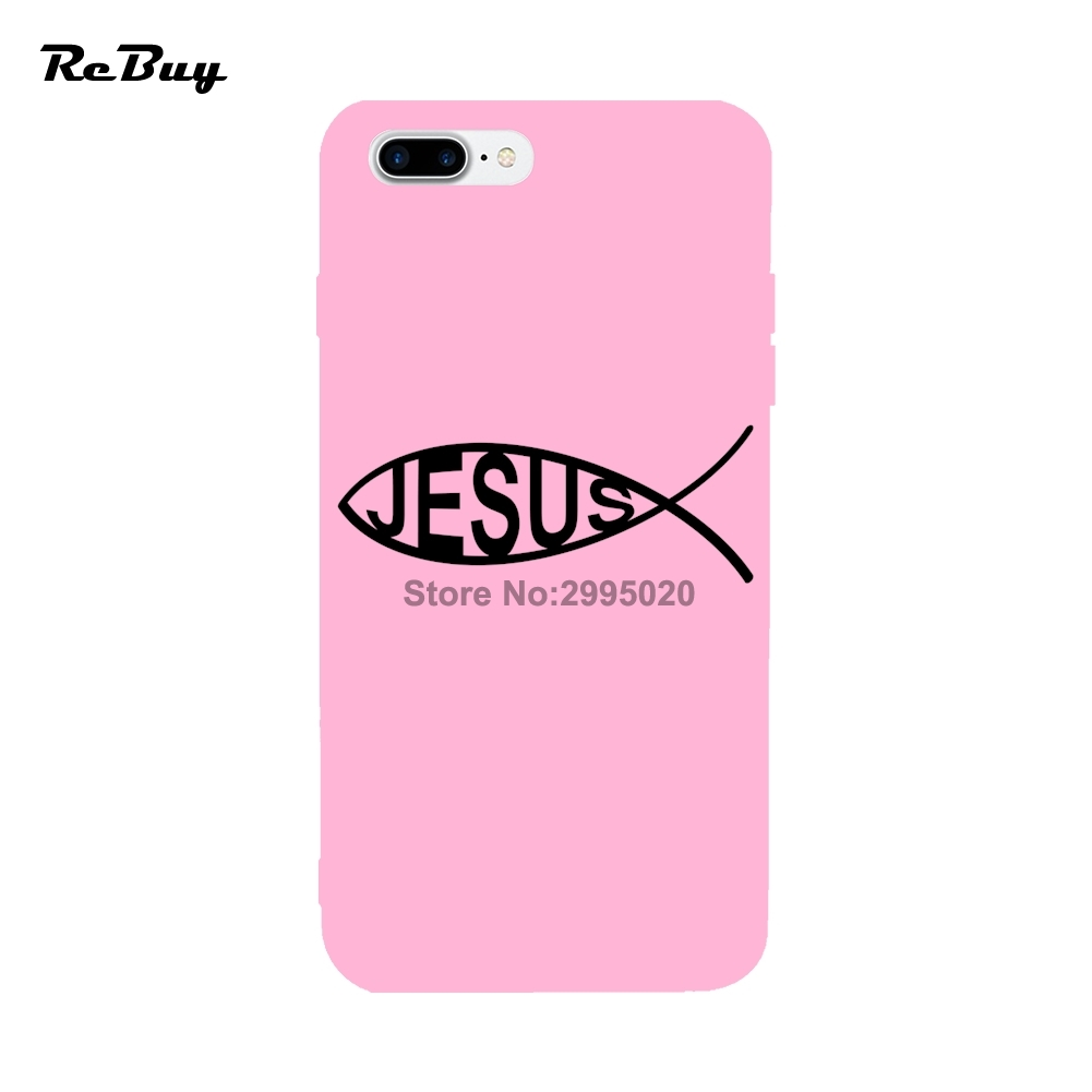 Ichtys JESUS For Iphone Case 7/7plus With Rope Hole Soft TPU Anti ...