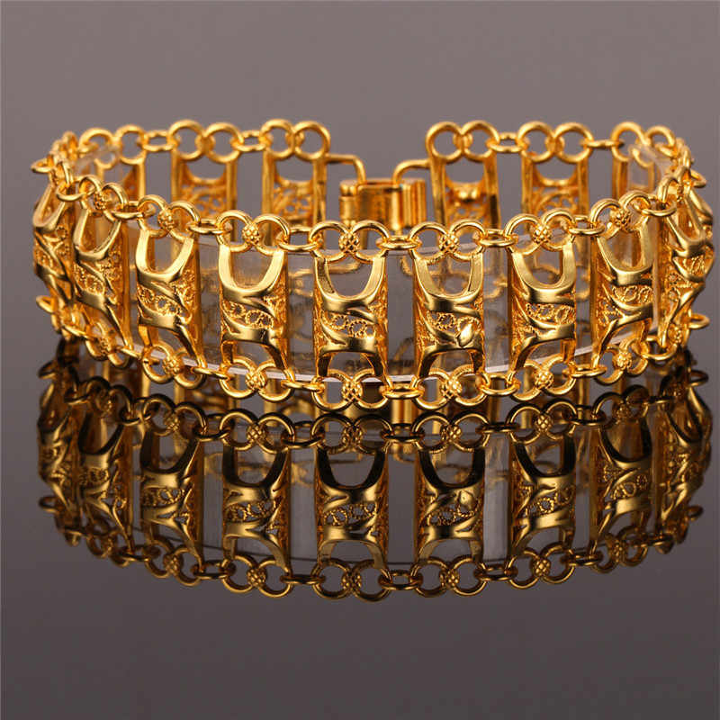 Bracelet For Women Men Jewelry Uniqe Design Gold Color Fashion Jewelry 19CM Bracelets & Bangles H467