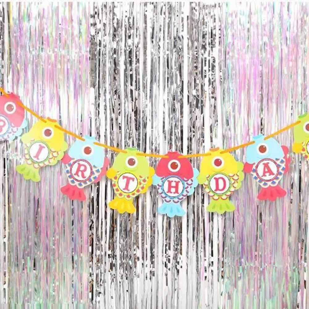 Занавеска с блестками полоса фольги занавеска для дня рождения свадьбы фон декор двери декор на окно и стены