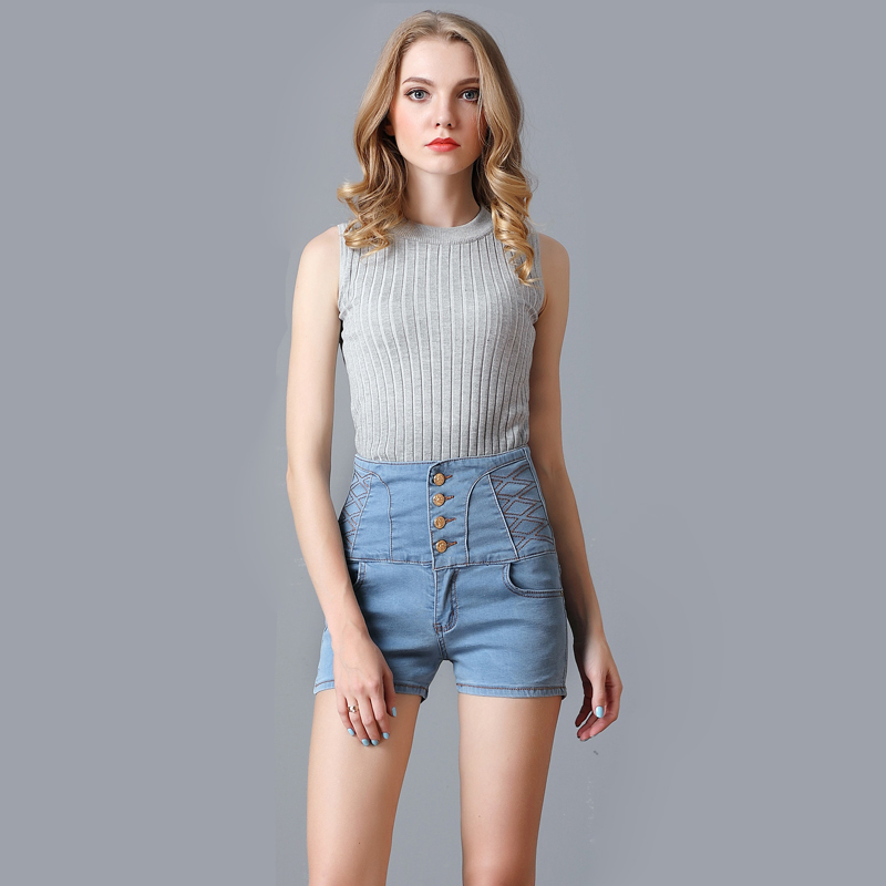 Popular High Waisted Jean Shorts for Women-Buy Cheap High Waisted ...