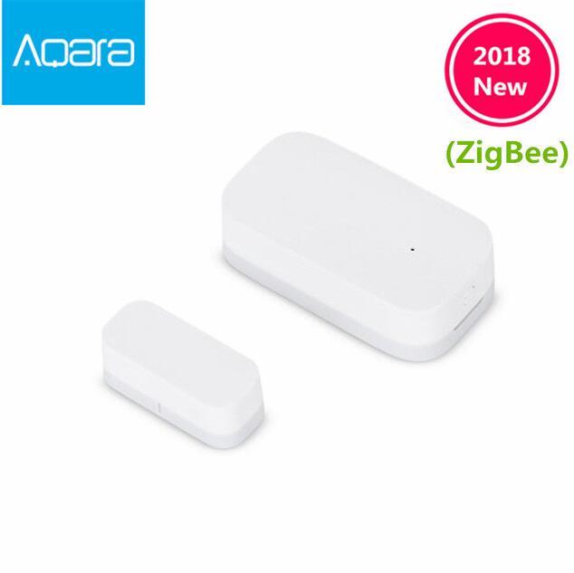 купить 2018 Xiaomi Aqara Door Window Sensor Zigbee Wireless Connection Smart Mini door sensor Work Android IOS App control free ship онлайн