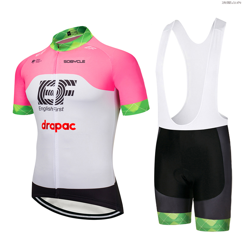 2018 Team EF cycling jersey 9D gel pad bike shorts set MTB SOBYCLE Ropa Ciclismo sobycle mens summer bicycling Maillot wear 2018 pink ef team long sleeve cycling jersey 9d gel pad bike pants suit mtb ropa ciclismo pro bicycling maillot culotte wear