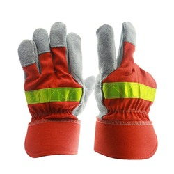 Ogień rękawice ochronne odporny na ogień Anti-sprzęt gaśniczy odporny na wysoką temperaturę ognioodporne rękawice z taśmy odblaskowe