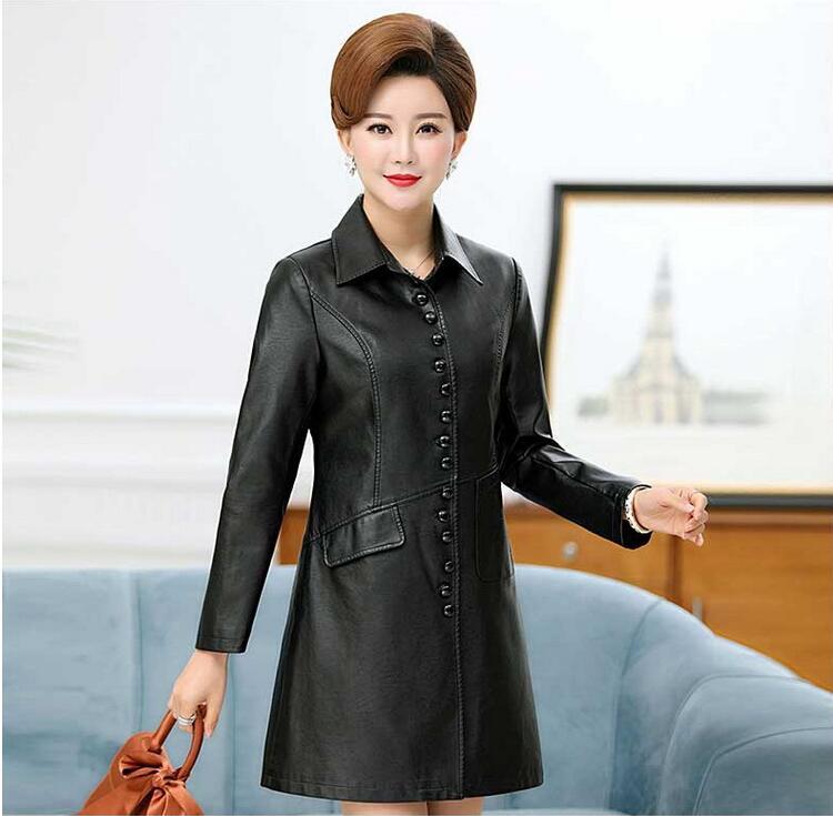 NXH black leather jacket mulheres brasão plus size mulheres casacos de couro do falso do motor motociclista jaquetas outwear inverno - 2