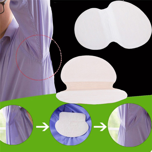 100pcs=50Pairs/lot Underarm Cotton Sweat Pads Disposable Armpits Antiperspirant Unisex Absorbing Deodorant Stickers Guarda Roupa