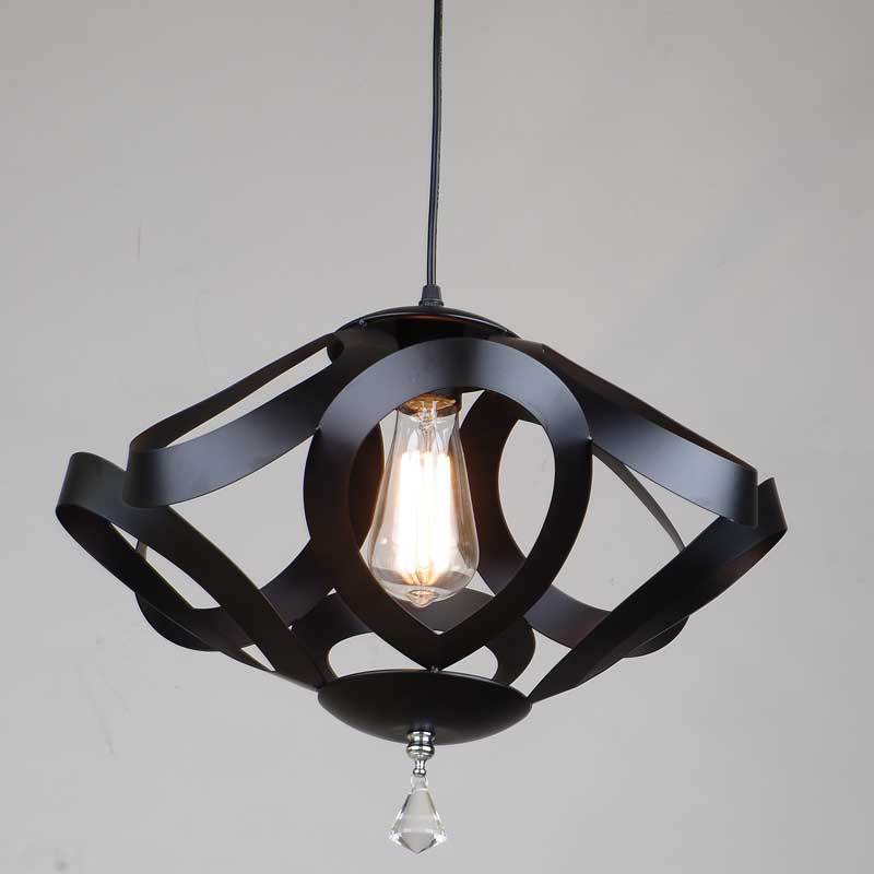 American Industrial Country Creative Personality Siamond Style Iron Pendant Light Clothing Store Decoration Lamp Free Shipping