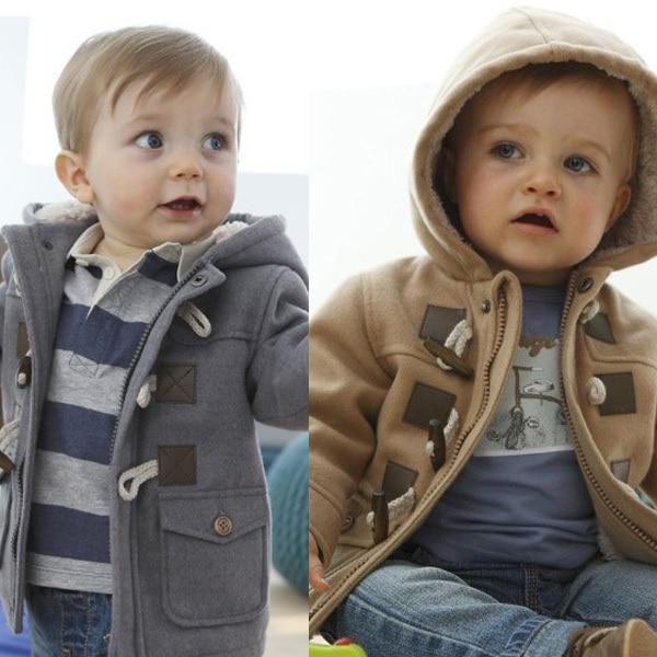 06fd16816 Kids Duffle Toggle Coat Faux Wool Hood Children Unisex Coat Baby ...