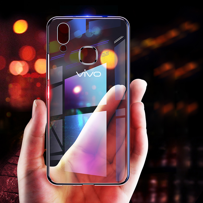 For vivo X20 Plus X9 X9s Plus X7 Y66 Y67 Y69 V7 Y75 Y79 Y55 X21 V9 Y71 Y83  Y85 NEX Transparent Phone Plating Soft Silicone Case