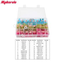 250pcs/Box Assorted Insulated Electrical Wire Terminals Crimp Connector Spade