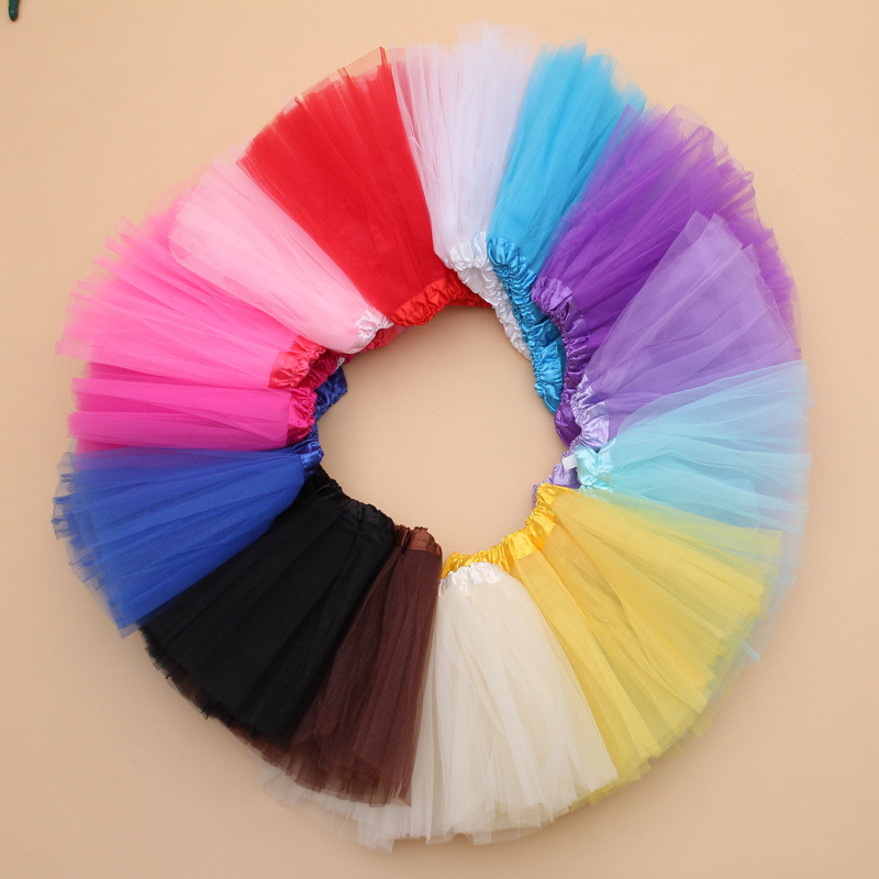 Қыздар юбки Tutu Балалар тюльы Tutu юбки Cute Toddler Girl Ball Балетки Dance Ballet юбка 3 қабат ханшайым Mini Party Pettiskirt