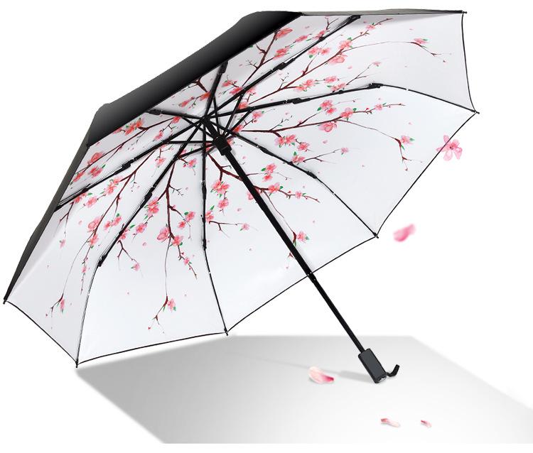 Umbrella Small Japanese Cherry Trees Flowers Spring Japanese Flo Portable Compact Folding Umbrella Anti Uv Protection Windproof Outdoor Travel Women Women Large Umbrella