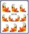 Etiqueta Engomada del clavo FRANCÉS SONRISA FLORAL DEL PAVO REAL OJOS de LA PLUMA de Agua Traslados Pegatinas Calcomanías de Uñas B100-110