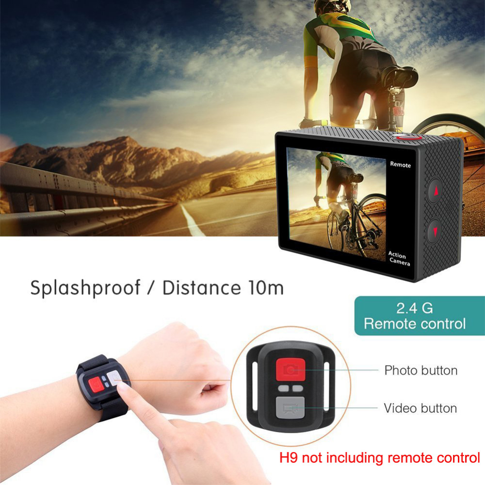 Caméra d'action 100% EKEN H9/H9R Ultra HD 4 K WiFi 1080 P/60fps 2.0 LCD 170D casque étanche caméra sport pro - 2