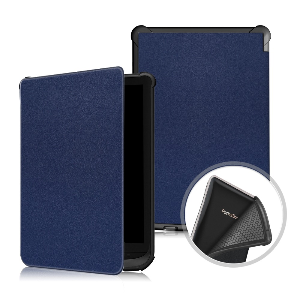 Smart Cover for <font><b>Pocketbook</b></font> <font><b>616</b></font> 627 632 Case Auto Sleep/Wake up for <font><b>Pocketbook</b></font> Touch Lux 4/Basic Lux 2/Touch HD 3 TPU Soft Shell image