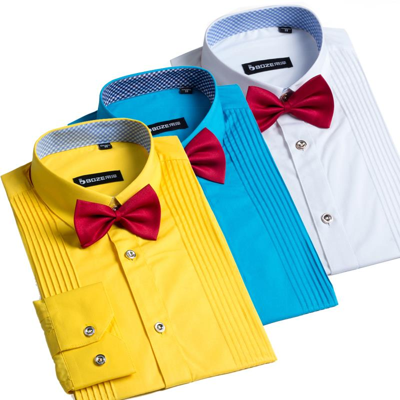 Men S Casual Formal Dress Long Sleeve Shirt Tuxedo Shirts For Men 35 Cotton 9 Colors