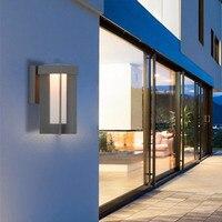 Современный светодиодный настенный светильник водостойкий открытый сад крыльцо настенный открытый монтаж настенный светильник Европейск