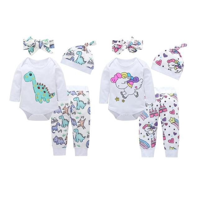 5ef3d88d9 Aliexpress.com   Buy JOCESTYLE 4pcs Newborn Baby Girl Clothes Baby ...