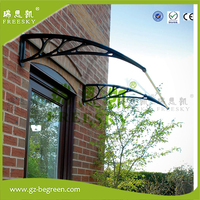YP100240 ALU 100x120cm 100x240cm 100x360cm Entrance Door Canopy Home Use Polycarbonate Awning Canopy