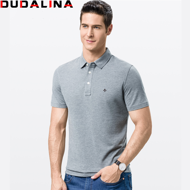 Dudalina clothing print pattern men polo shirt men for Business casual polo shirt
