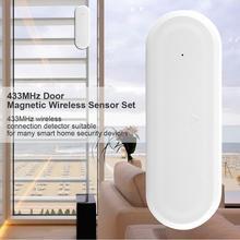 цена на 433MHz Door Anti-theft Alarm Alert System Magnetic Contact Wireless Sensor Alarm for Home Window Door Garage Alarm Security