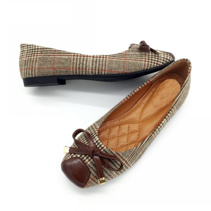 Image 4 - BEYARNE נעלי נשים בלט דירות נעליים להחליק על אביב סתיו רדוד אישה אחת נעלי גבירותיי נקבות עבודה הנעלה ZapatosE225