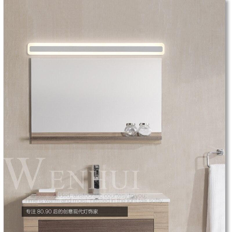 Nouveau moderne led miroir lumière 8 W 10 W étanche applique murale luminaire AC220V acrylique mural salle de bain éclairage