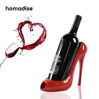 Homadise高ヒール靴ワインボトルホルダーハンガー赤ワインラックサポートブラケットバーアクセサリーテーブル装飾現代スタイ