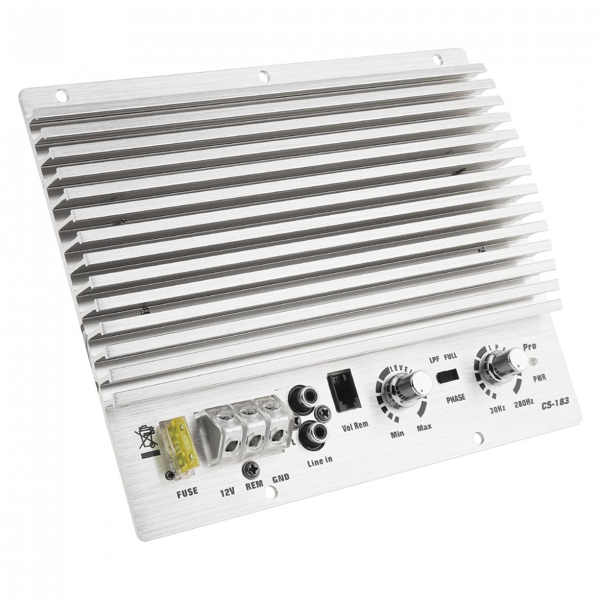 US $29 49 31% OFF|1000W Class AB Digital 2 Channel Aluminum Alloy Silver  Car Audio AMP Subwoofer Amplifier Universal Auto Audio Power Amplifier-in