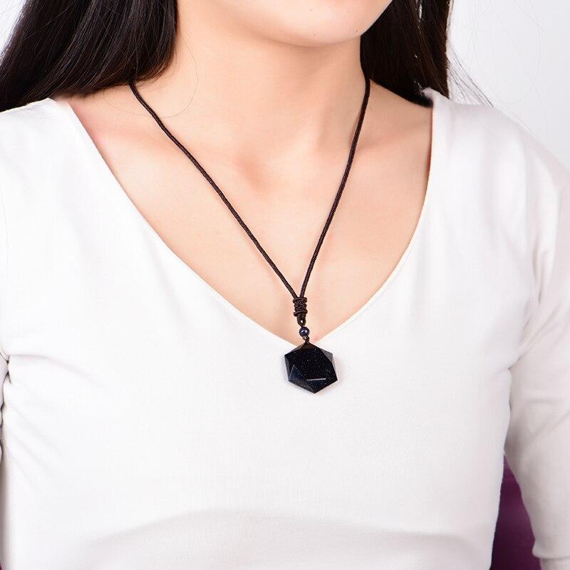 QIANXU Black Obsidian Six Awn Star Pendant Necklace Obsidian Star Jewelry Obsidian Jade Jewelry Fine Jewelry QIANXU Black Obsidian Six Awn Star Pendant Necklace Obsidian Star Jewelry Obsidian Jade Jewelry Fine Jewelry