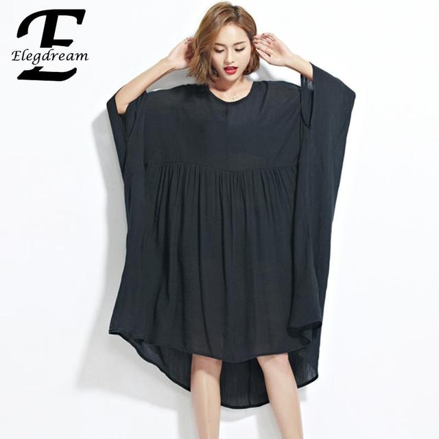 0ee336e8c34 Elegdream Oversized Clothing Big Plus Size Women Blouse Shirt Fashion Lady  Casual Loose Top Tee Female Free Tunic Blusa Vestidos