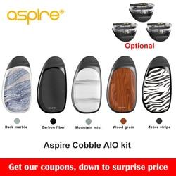 Original Aspire cobble pod kit newest aspire aio vape pod system kit with 700mAh battery 1.8ml capacity cartridge vs smoant S8