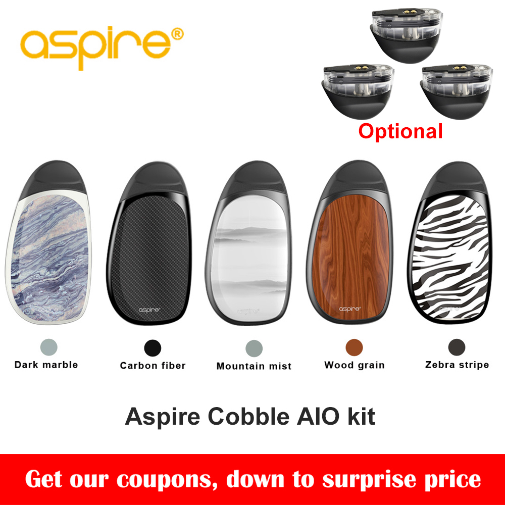 Original Aspire kopfstein pod kit neueste aspire aio vape pod system kit mit 700 mah batterie 1,8 ml kapazität patrone vs smoant S8